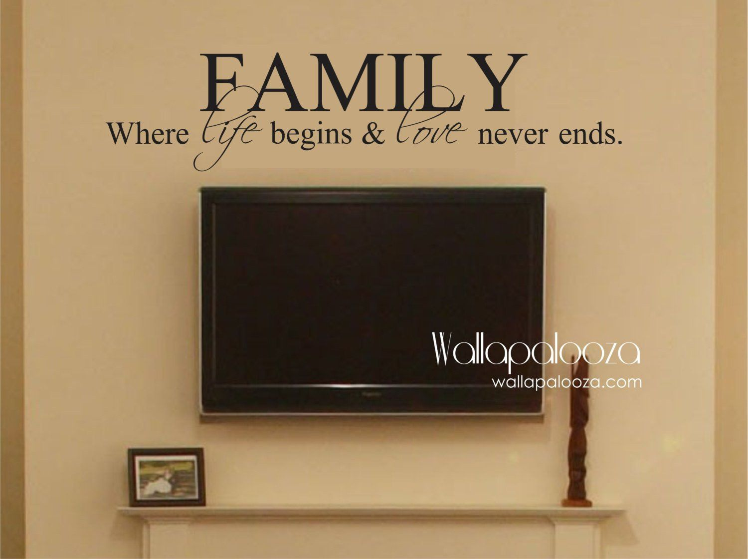 Family Where life begins and love never ends - Family Wall Decal ...