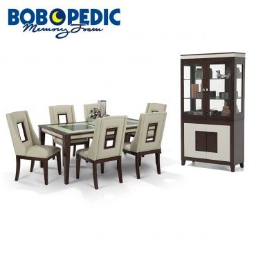 Kenzo 8 Piece Dining Set With Curio Dining Room Sets Dining Set