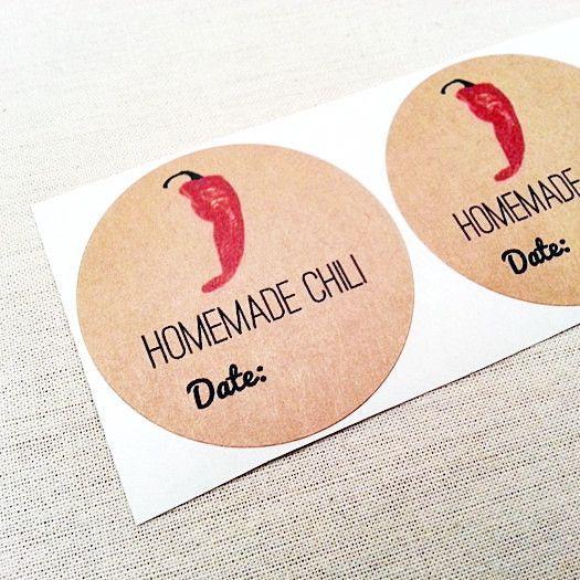 Homemade Chili Mason Jar Labels