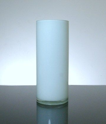 Baked Cylinder Glass Vase 4 X 10 12 Pc White Black And White