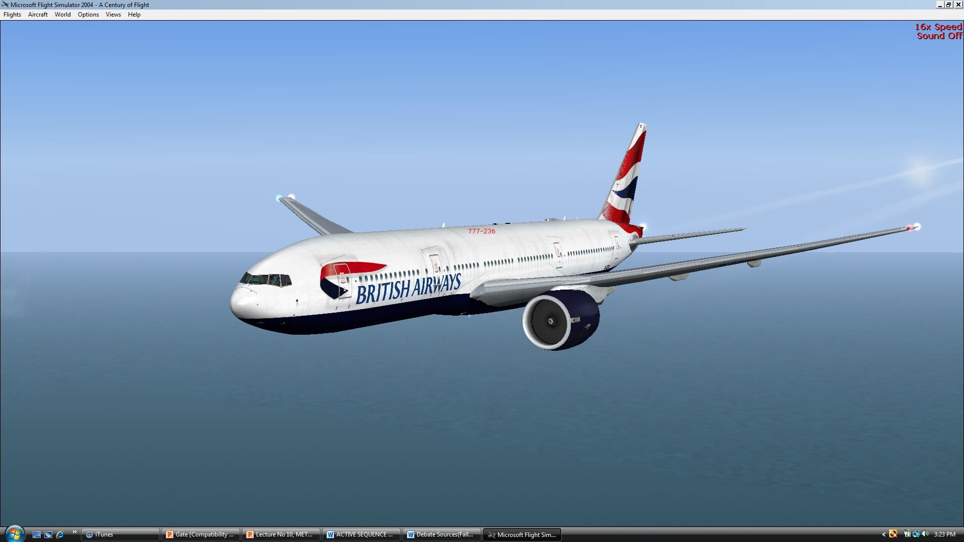 british airways 777 over