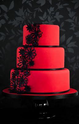 Torte In Rot Schwarz Torten Funfood Cookies Hochzeitstorte