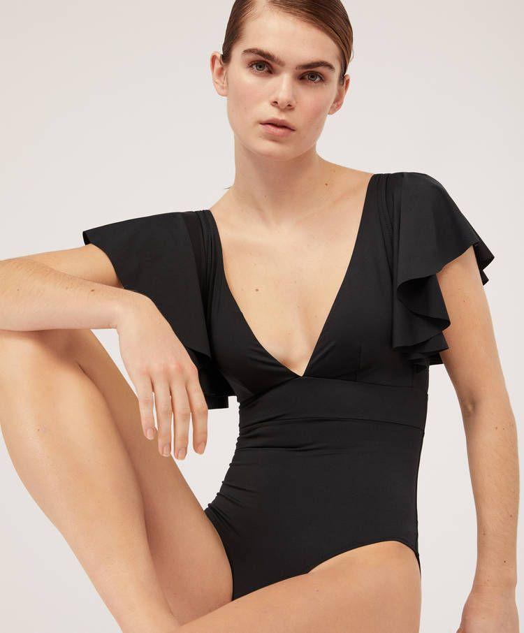 Frill Triangle Bathing Suit Swimsuits Swimwear And Beachwear