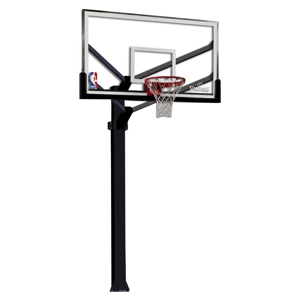 Spalding Nba 72 Arena View Acrylic Fixed Height In Ground Basketball Hoop Basketball Hoop Rebounding Spalding