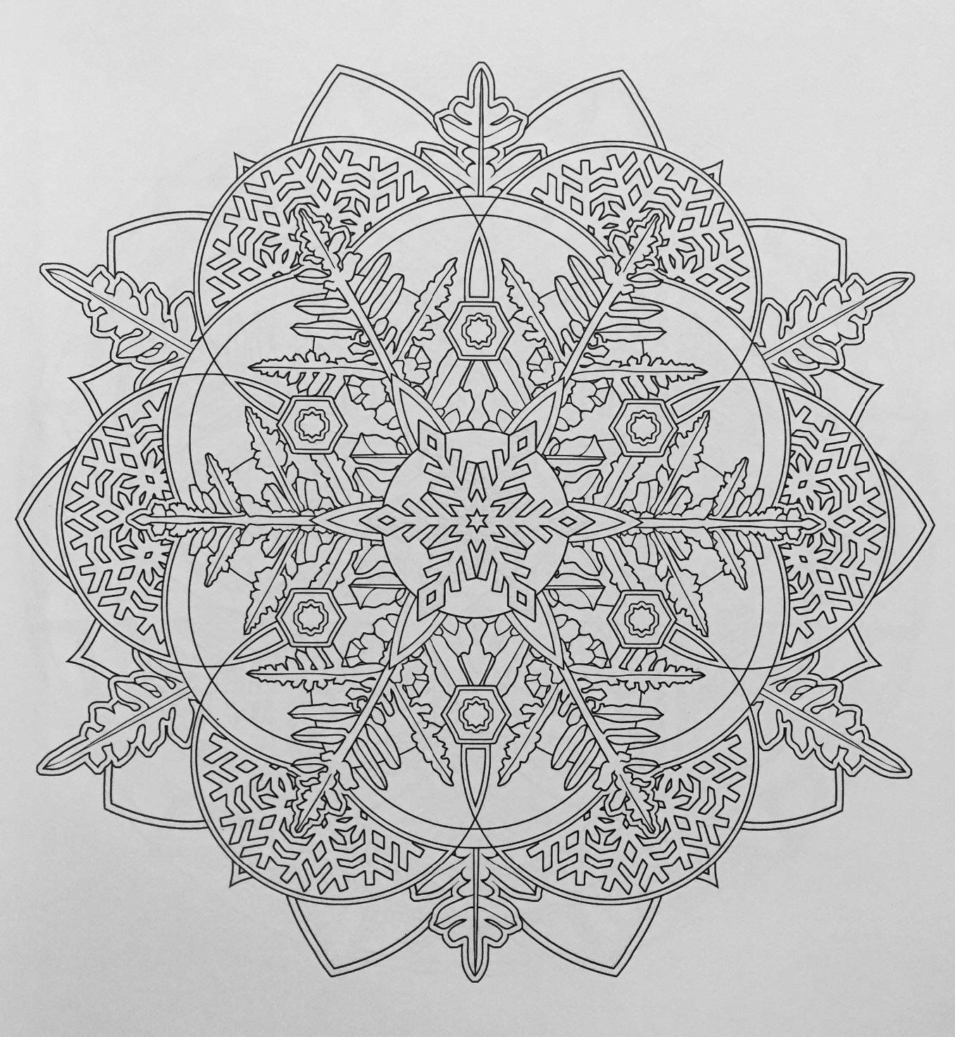 Creative Haven Snowflake Mandalas Coloring Book Books Marty Noble