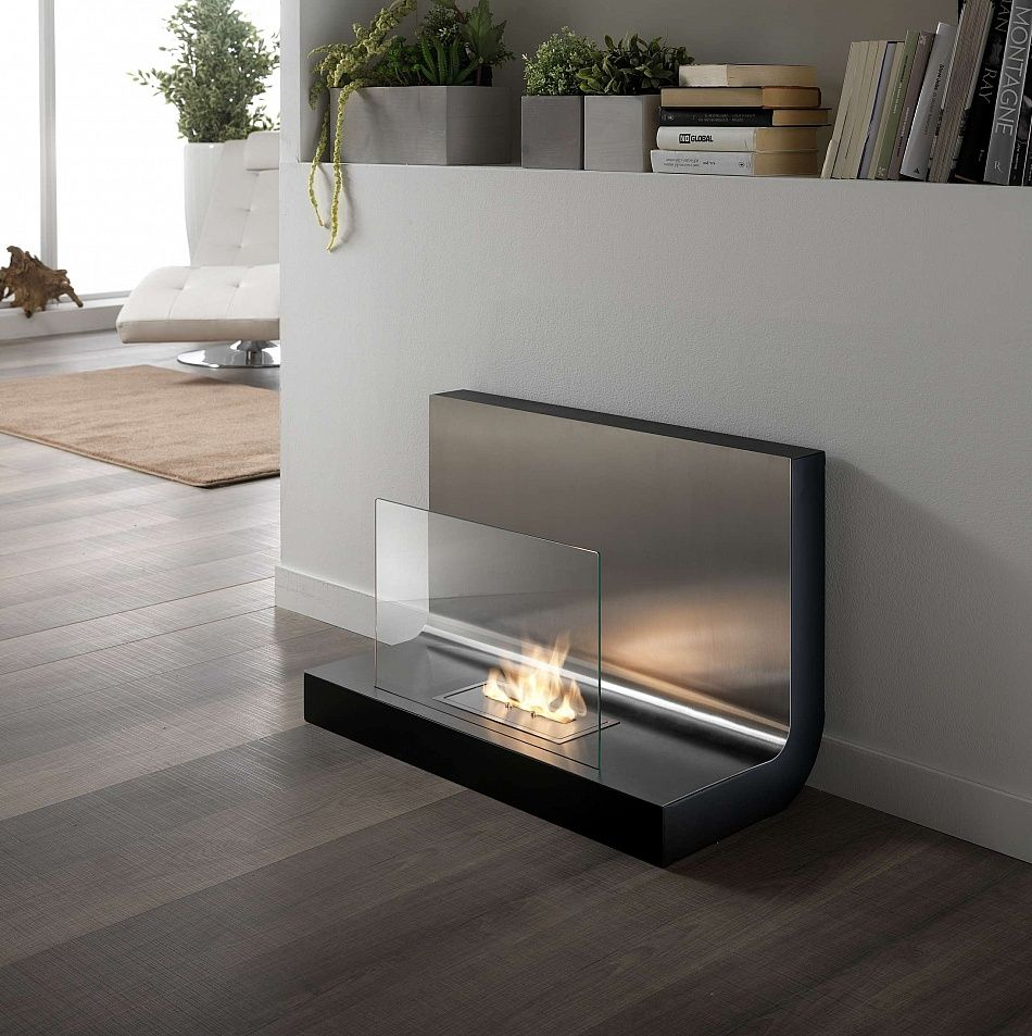 Extravagant fireplace steals the show stone fireplace for the spacious - Stylish Portable Bioethanol Fireplace Elegant And Modern Design At My Italian Living Ltd