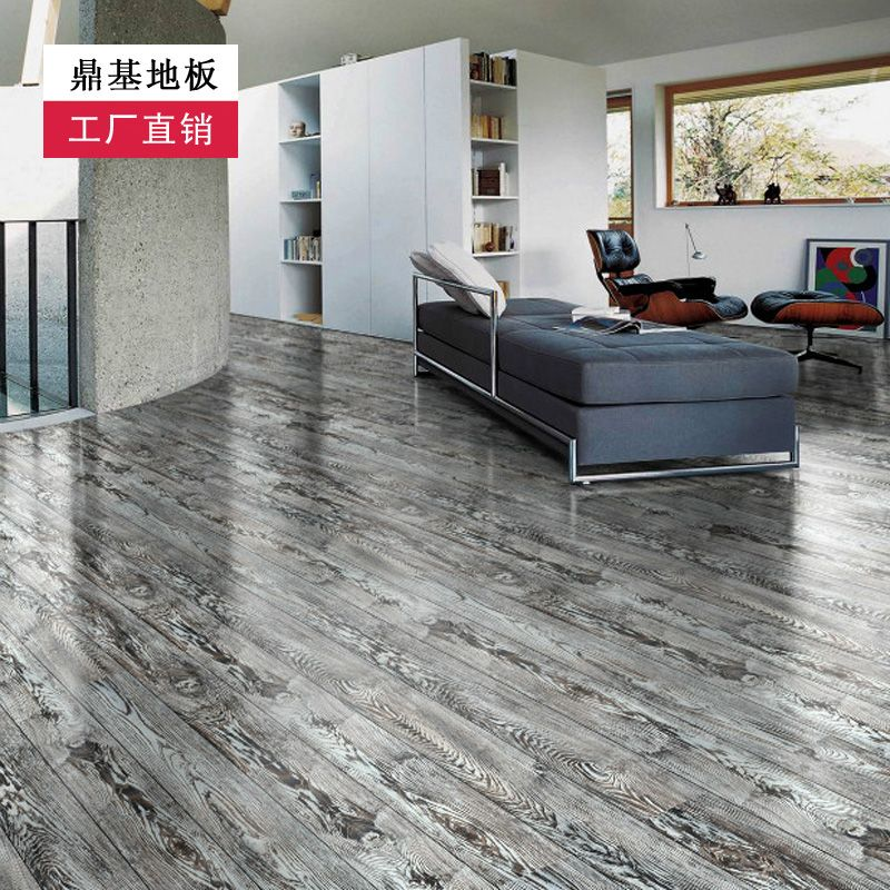 grey laminate flooring with grey walls, Floor wood grain grey fashion wear resistant laminate
