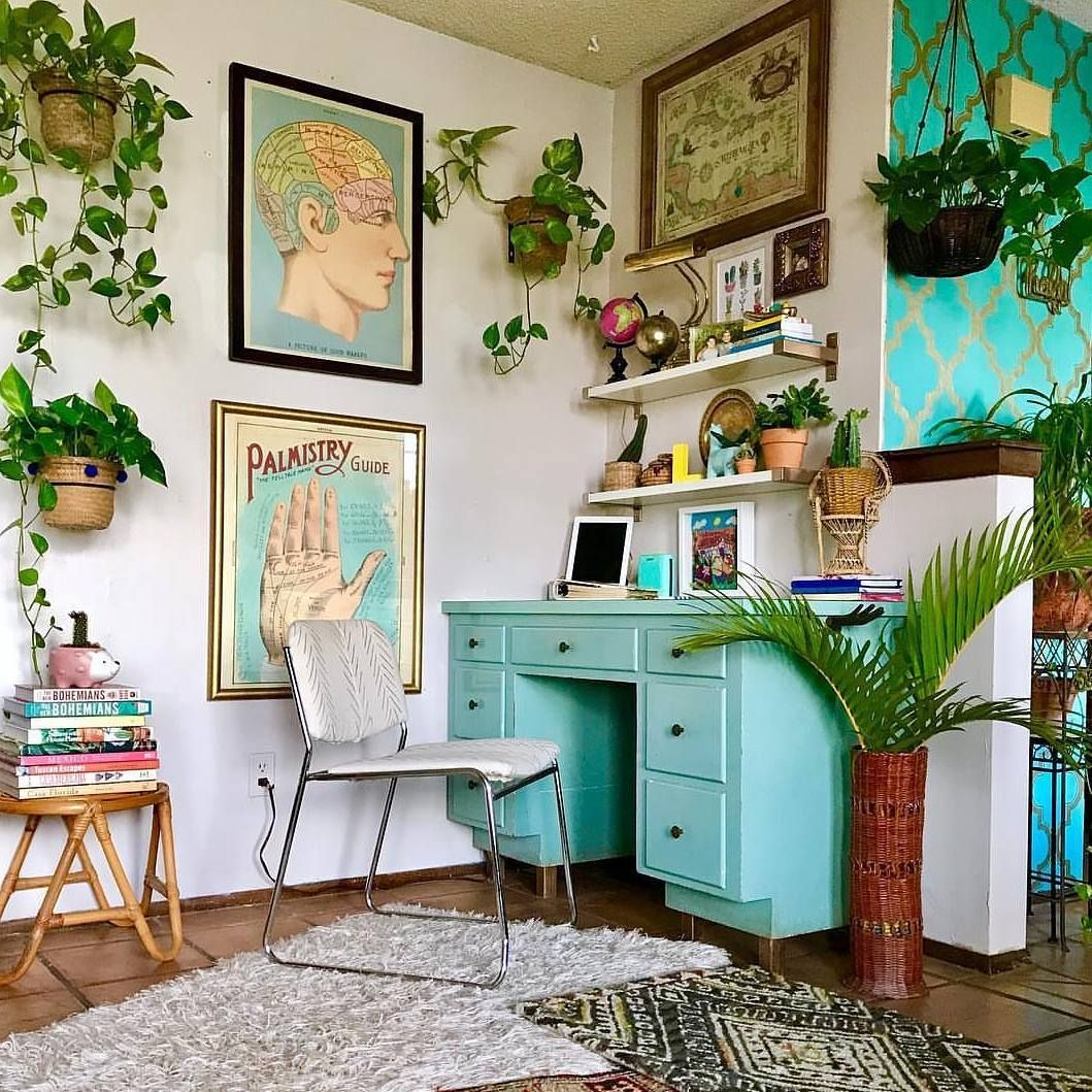 Pin by Květa K. on Bohemian Glam | Home office decor ...