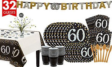 Sparkling Celebration 60th Birthday Party Kit For 32 Guests