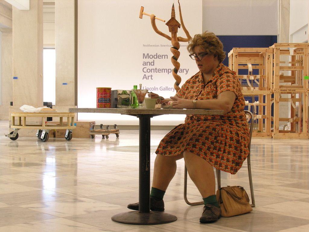 Duane Hanson woman eating art Pinterest Women's