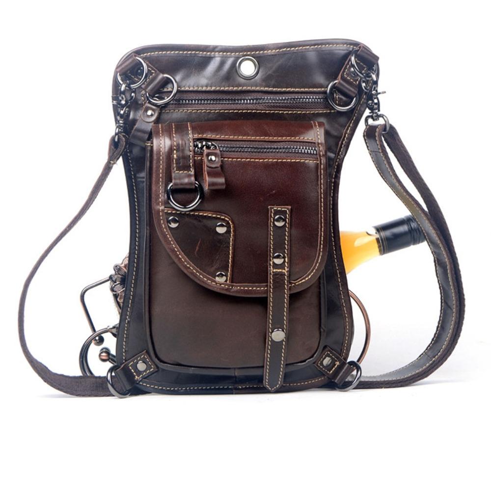 27.92$  Watch here - http://alihql.shopchina.info/go.php?t=32734540097 - Men's Cowhide Oil Wax Genuine Leather Waist Thigh Drop Leg Bag Messenger Cross Body Shoulder Belt Hip Bum Pack  #bestbuy