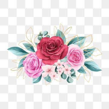 Mazzo Di Fiori Vector.Cornice Di Fiori Floreali Dell Acquerello Sfondo Schema Fiore
