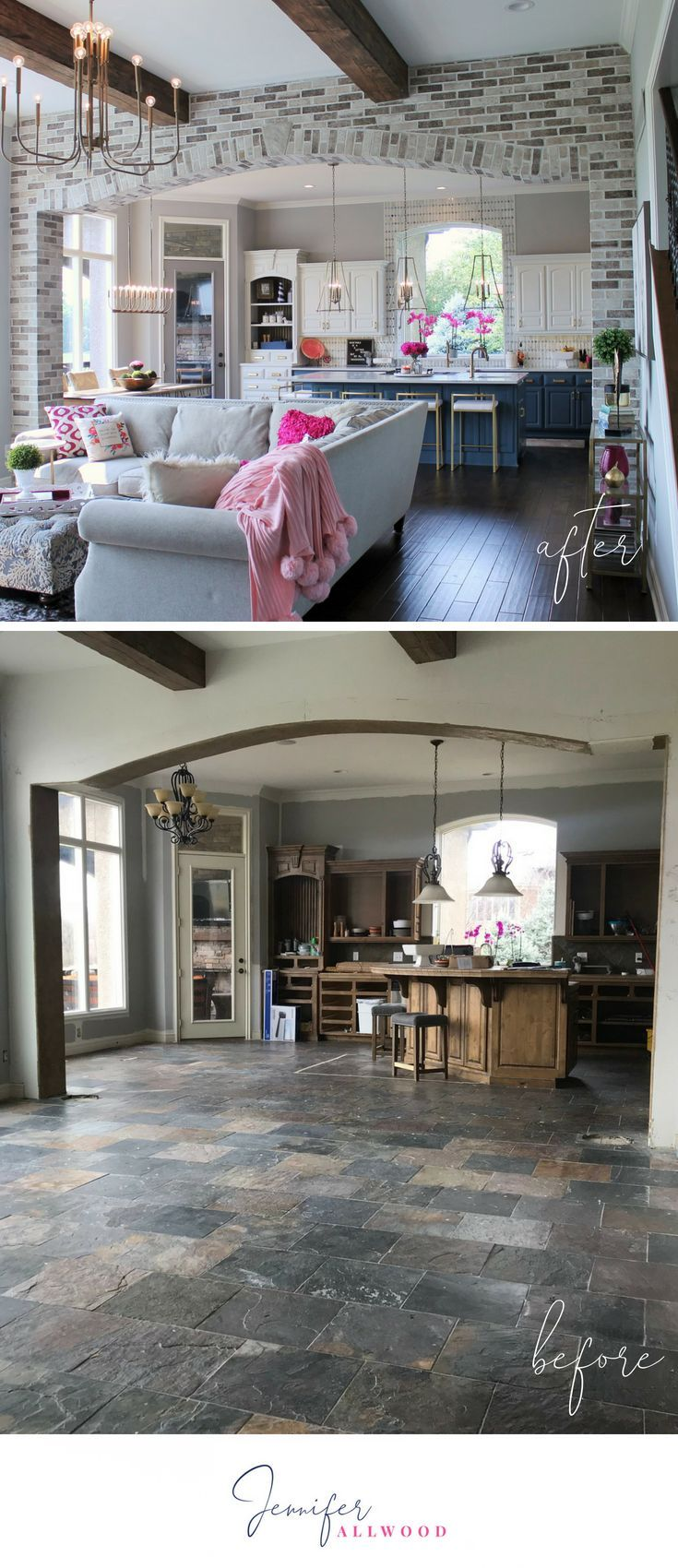 Our Light Brick Archway in the Kitchen & Hearth Room images