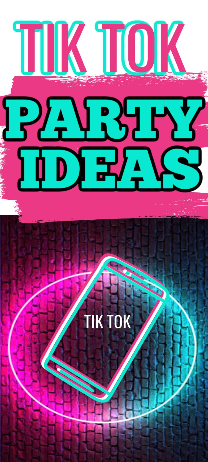Tik Tok Party Ideas Kids Party Party Tik Tok