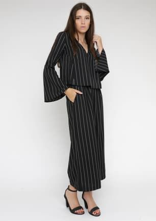Lucy Mcintosh - Circuit trouser - Black pinstripe