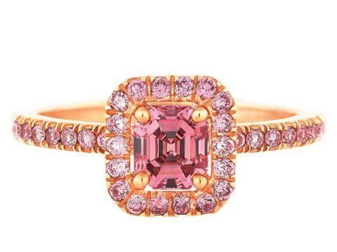 bague diamant rose prix
