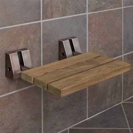 Amazon Com Teak Wall Mount Fold Down Shower Bench Seat 30 X