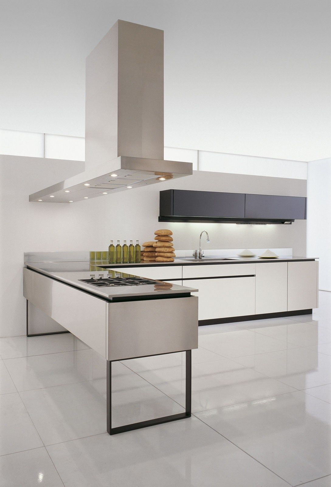Kitchen with island without handles HI-LINE 6/HI-LINE by DADA ...