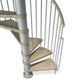 Best Arke Phoenix 55 In X 10 Ft Gray Spiral Staircase Kit 400 x 300
