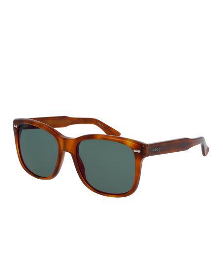Gucci Acetat Sonnenbrille aus Havana Acetat BOqP8b1