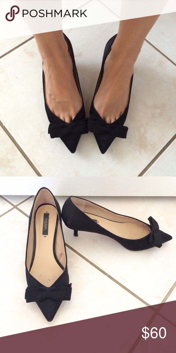 Sale Zara Kitten Heel Pumps Kitten Heel Pumps Kitten Heels Black Kitten Heels