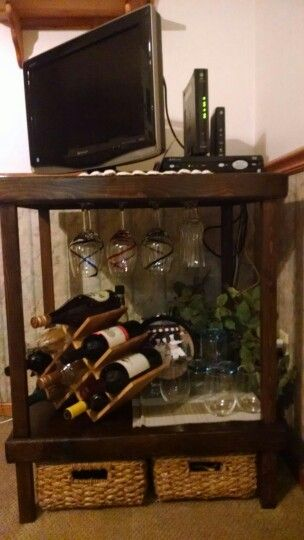Diy turn old stand into wine rack husband projects pinterest diy turn old stand into wine rack solutioingenieria
