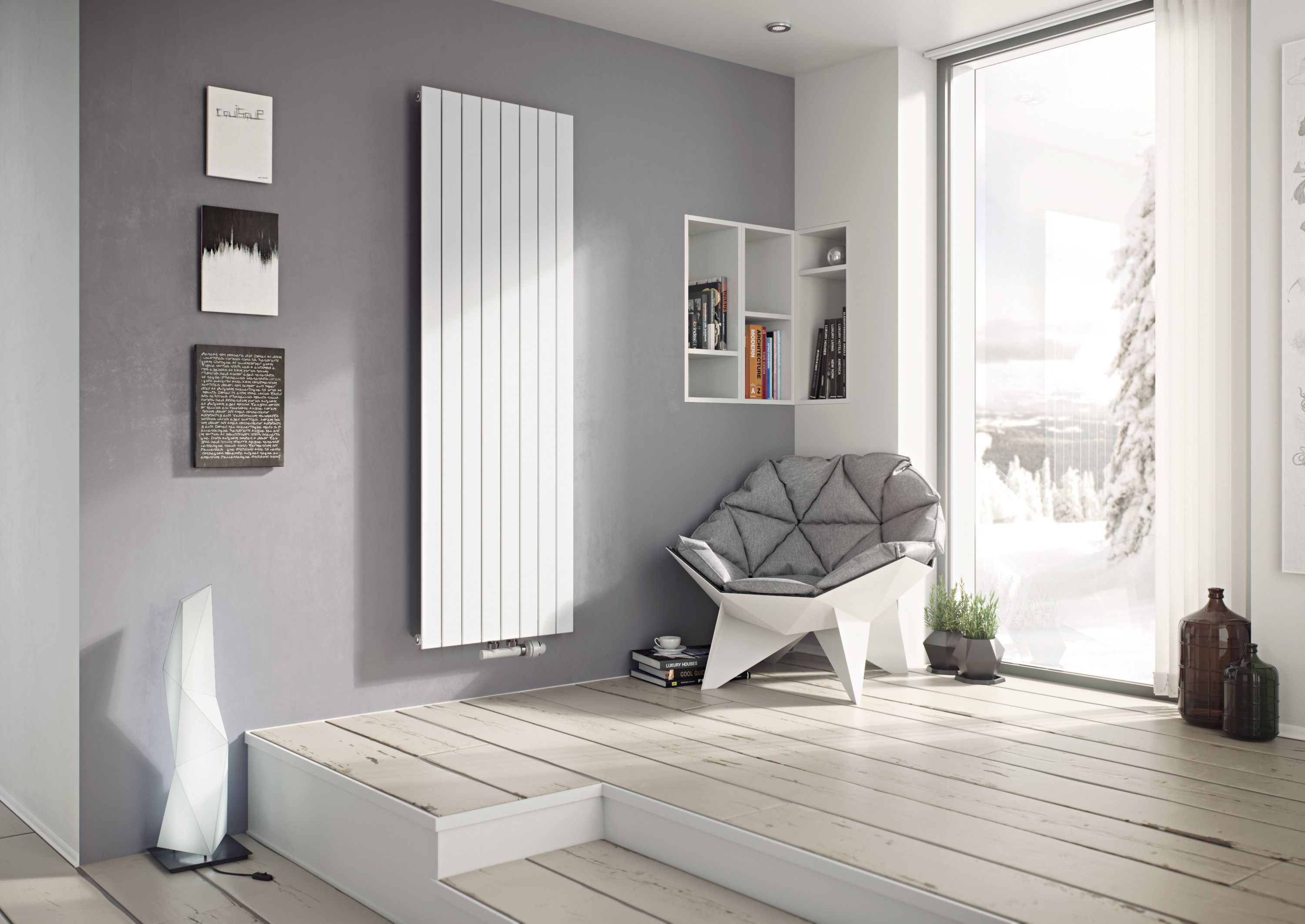 Introducing the Eucotherm Mars Vertical Designer Radiator, a single ...