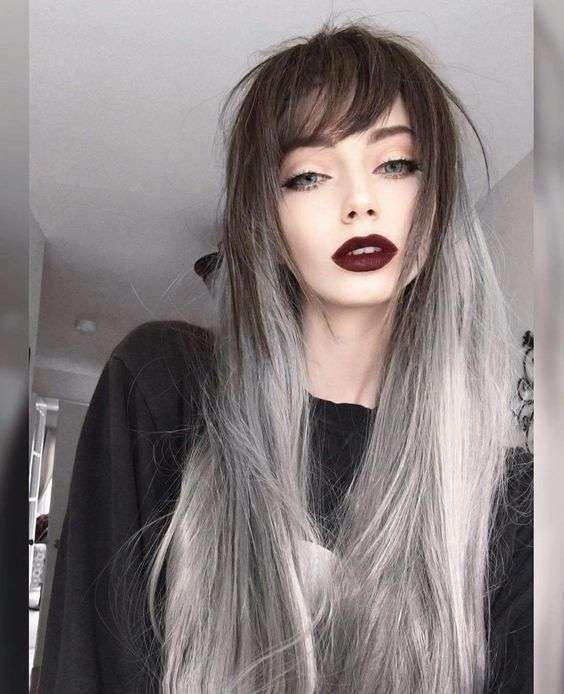 Capelli grigi su capelli castani  73c679cc0a15