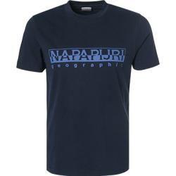 Napapijri T-Shirts Herren, Baumwolle, blau Napapijri