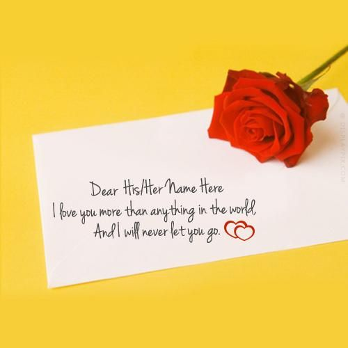 Get your name in beautiful style on Valentine Day Card picture – What to Write on Valentine Card