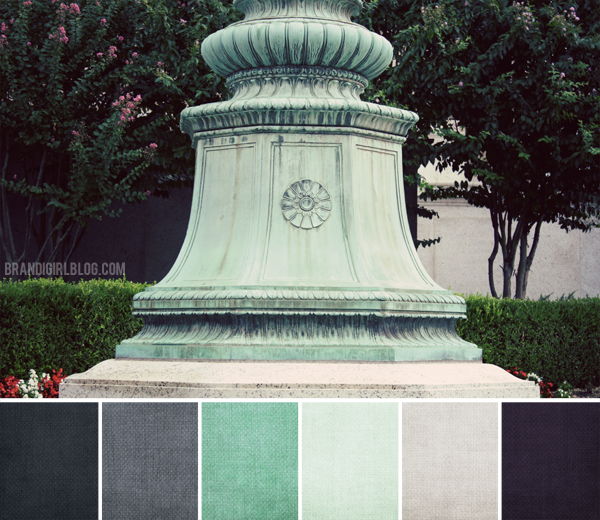 Verdigris color palette - from Brandi Girl Blog #colorpalettecopies