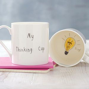 db5c63f6020 My Thinking Cup' Mug - gifts for her | Pottery | Mugs, Secret santa ...