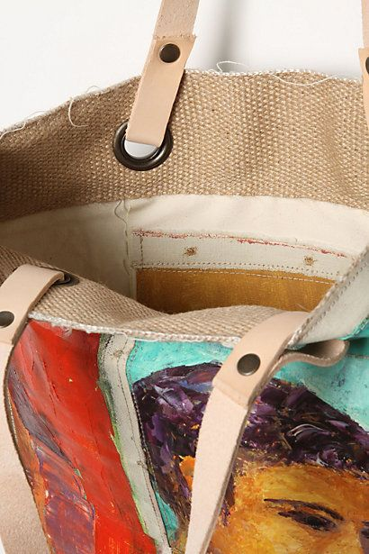 Repurpose A Vintage Oil Painting Painted Canvas Bags Handpainted Bags Recycled Canvas
