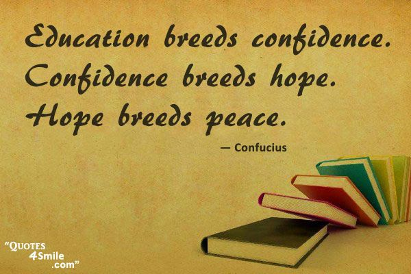 Education Quotes On Pinterest: Confucius Quote On Peace Http://www.quotes4smile.com
