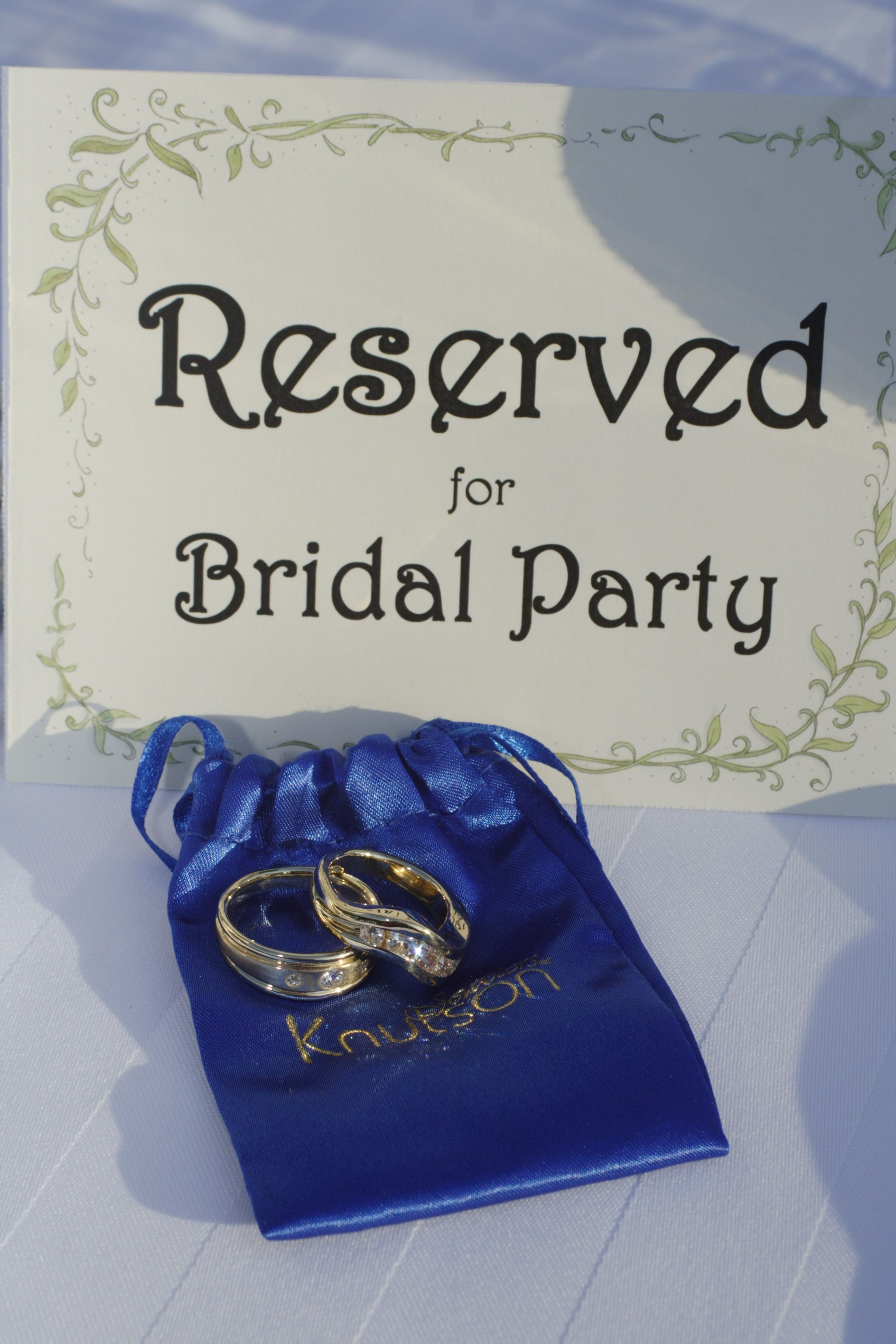 Reserved for Bridal Party by: Steven Reid, Stepsofaith.com