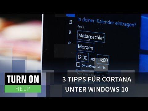 3 Tipps Fur Cortana Unter Windows 10 Help 4k Tipps Microsoft Tricks