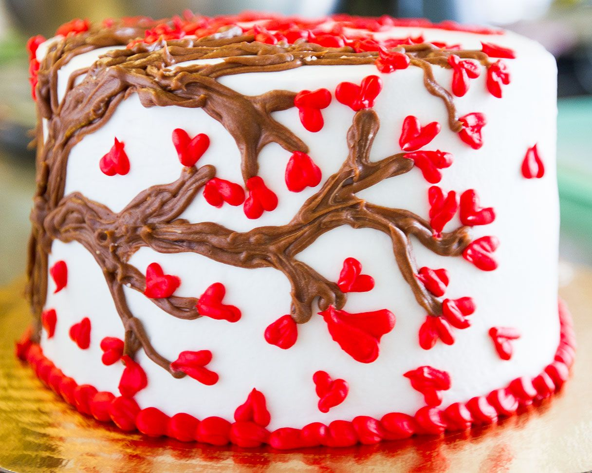A Cute Heart Cake Design For Valentineu0027s Day!