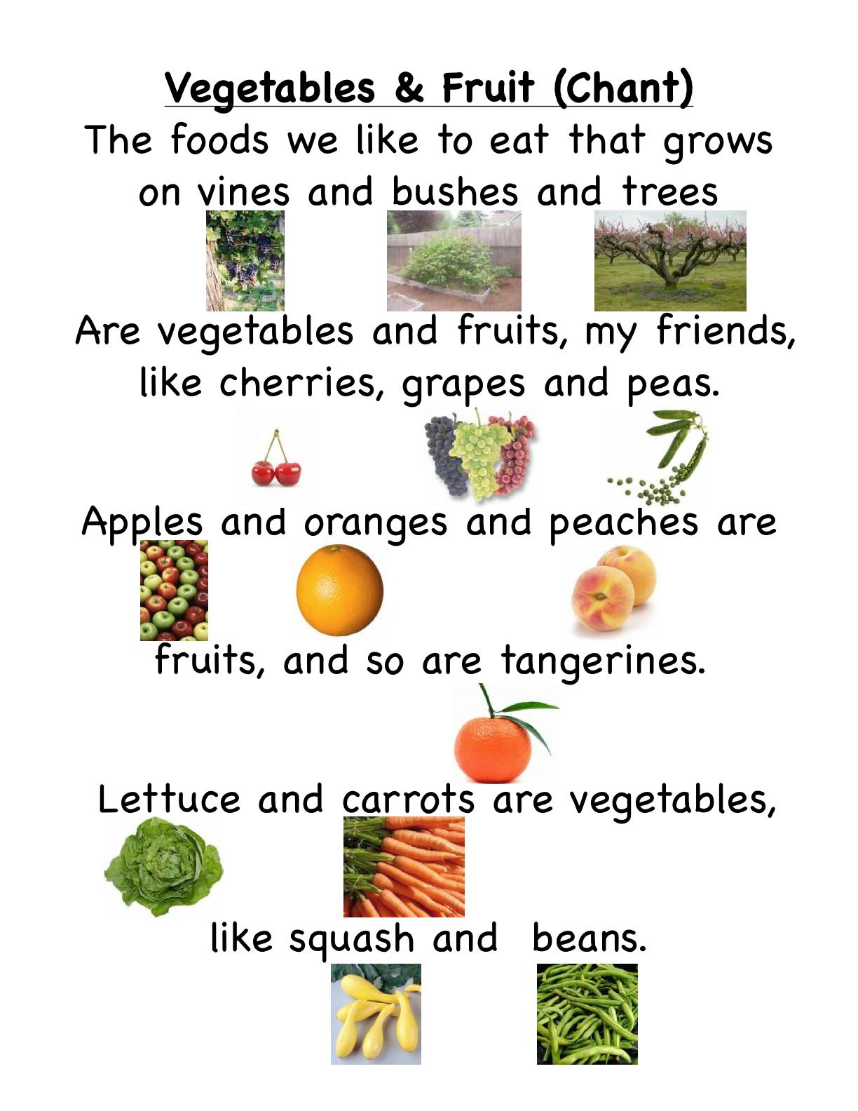 Preschool Is Fun Planning Activities Fruits And