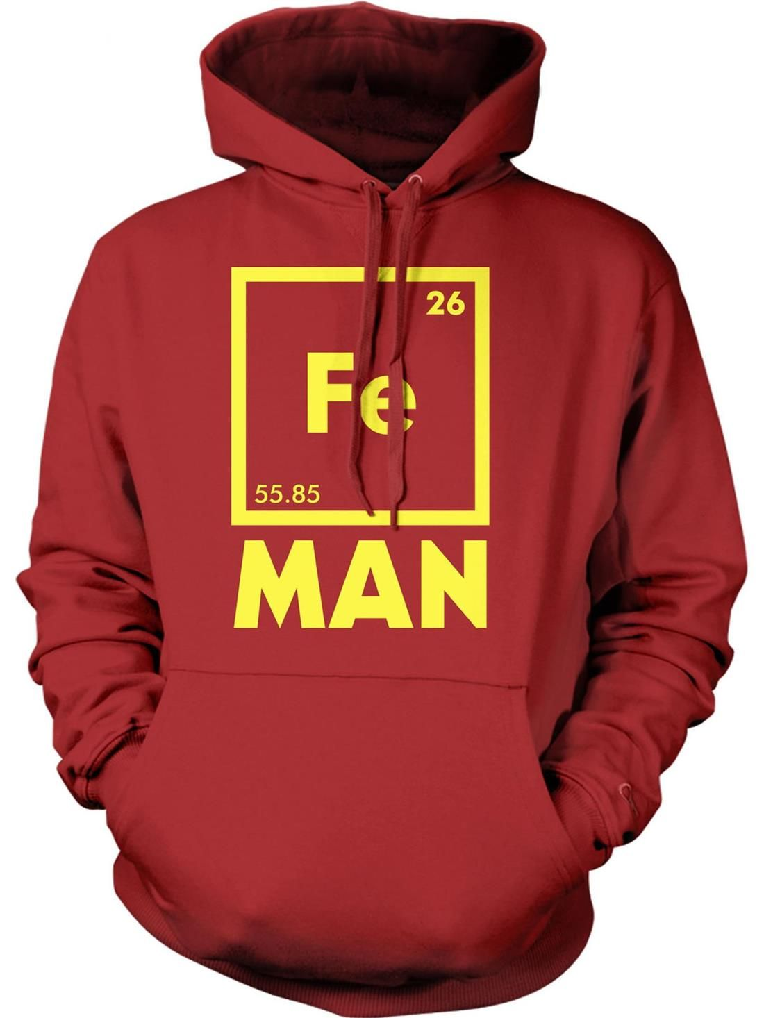 Crazy Dog T Shirts Chemical Element For Iron Man Hoodie Vault