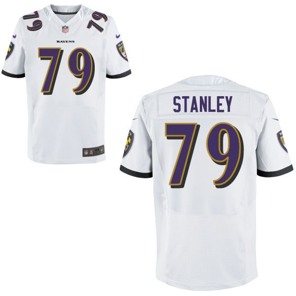 mens baltimore ravens nike white customized new 2014 elite jersey