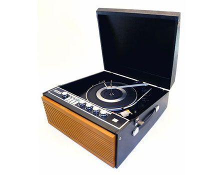 1960s Decca Decclian Portable Record Player Record