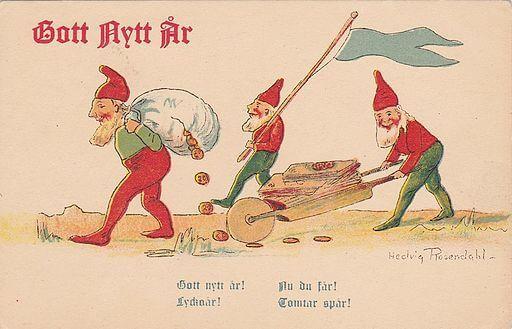 Swedish Happy New Year Christmas Card