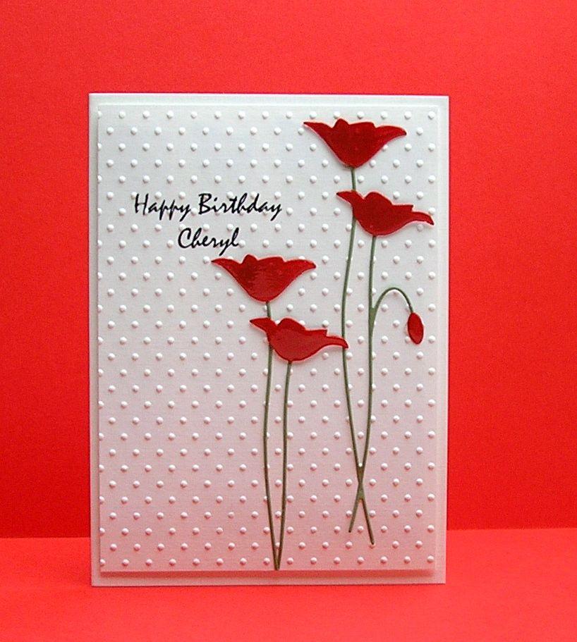 Cards from Lynne`s Loft Happy Birthday Cheryl