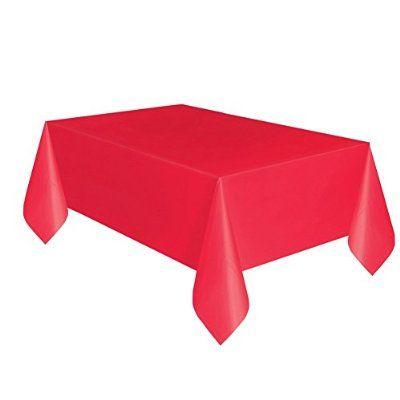 Plastic Tablecloth 108 X 54 Red Party Table Cloth Plastic Table Covers Plastic Tables