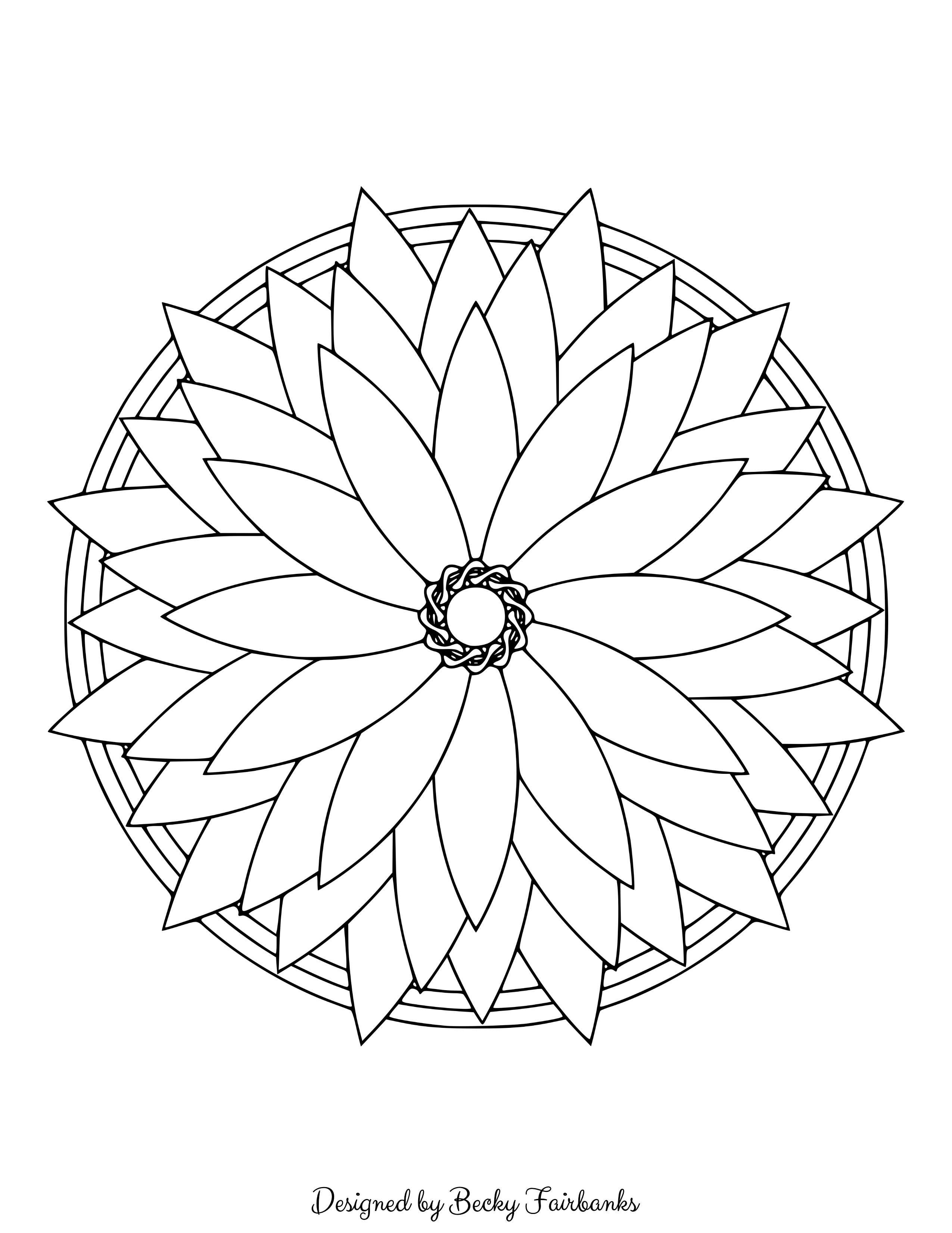 here u0027s a sample page from simple mandalas for you to print and