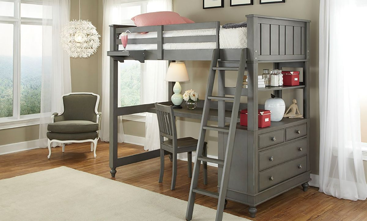 Loft bed with desk ideas Bunk Bed Desks  Desk Decorating Ideas On A Budget Check more at