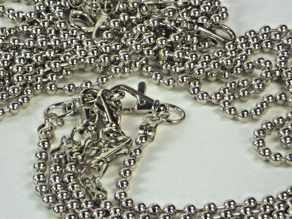 5 pc Set Silver Metal Bead Purse Chains, Long Detachable Bead Chain, Purse Making Bag Supplies #DIY #MeiMeiSupplies ETSY USA