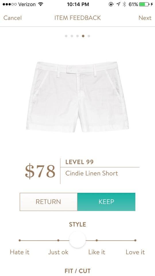 Flattering shorts. Great length Level 99 Cindie Linen Short https://www.stitchfix.com/referral/7177392