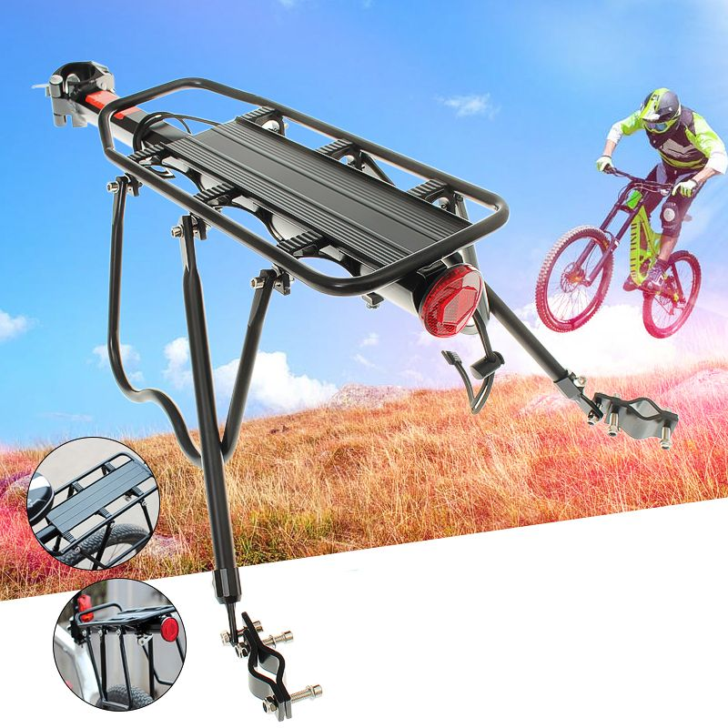 Black Bike Bicycle Rear Rack Luggage Shelf Carrier Pannier