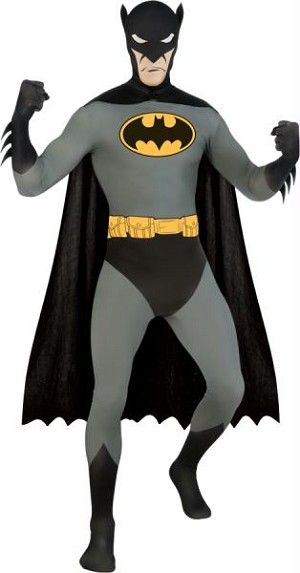 Batman Skin Suit is a full-body stretch jumpsuit and cape New - mens halloween costume ideas 2013